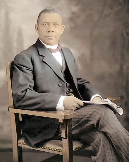 Image result for booker t washington in color