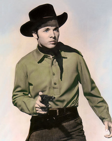 "8x10"" HAND COLOR TINTED PHOTOGRAPH ACTOR AUDIE MURPHY 