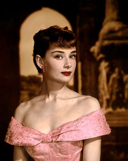 "AUDREY HEPBURN ROMAN HOLIDAY 1953 ACTRESS 8x10"" HAND COLOR ..."
