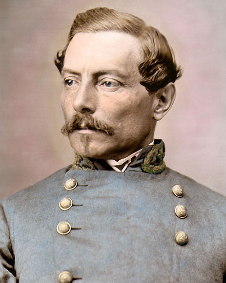 General P G T Beauregard 8x10 Quot Hand Color Tinted Civil