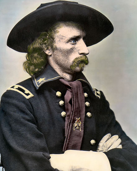 George armstrong custer went from last in his class at west point, to brigadier general at the age of 23