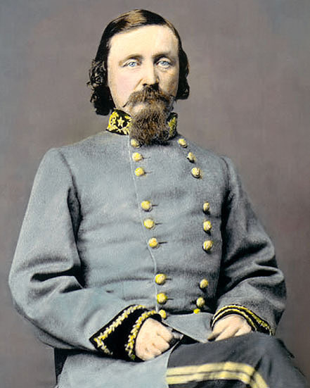 general george e pickett 1860 8x10 hand color tinted