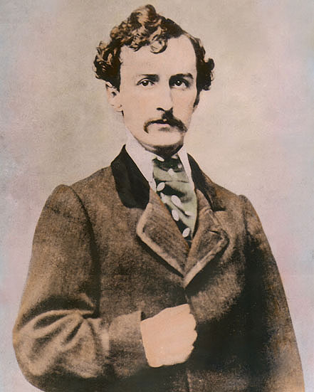 """JOHN WILKES BOOTH ASSASSINATED ABRAHAM LINCOLN 8x10"""" HAND ..."""
