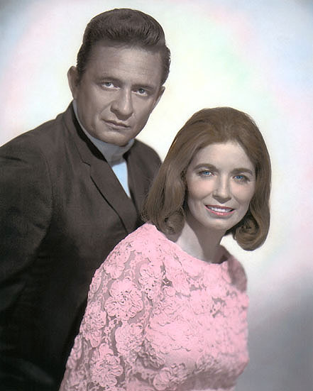 Johnny Cash June Carter Country Western Singers 8x10 Hand Color