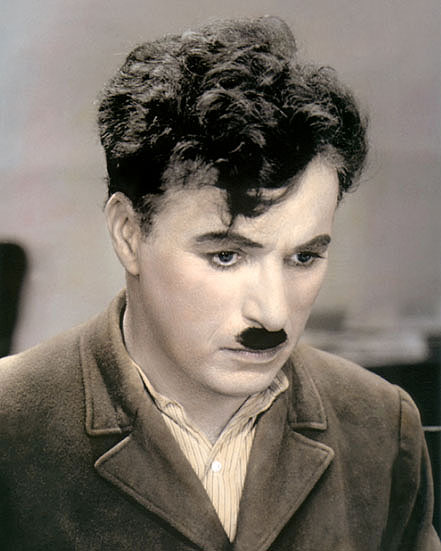 charlie chaplin city lights comic actor x hand color  color